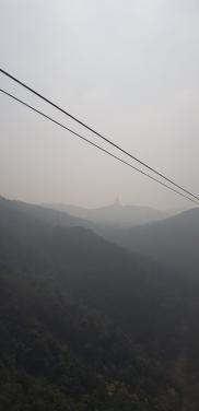 Tian Tan Buddha in the distance.
