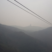 Tian Tan Buddha in the distance.