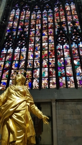 Stained glass in Duomo di Milano.