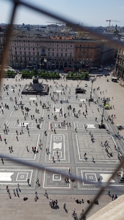 The Square below. People looking like ants from here.