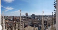 Great view of Milan from Duomo di Milano.