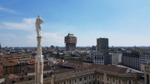 Roof top of Milan Cathedral.