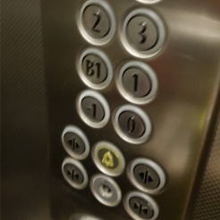 Hotel Elevator buttons.