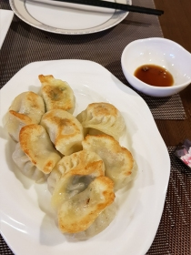 Potstickers at Milan Chinatown.