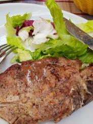 Grilled pork chop.