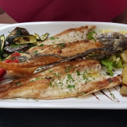Grilled fish.