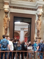 Egyptian statues.