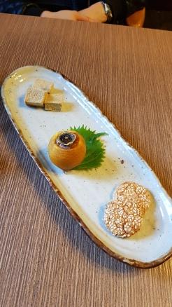 Traditional Japanese sweet snacks.