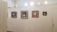 Some of the works being exhibited in the porcelain exhibition.