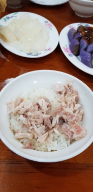 A bowl of Chiayi chicken rice.