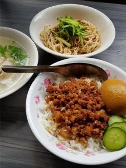 Delicious Taiwanese braised pork rice.