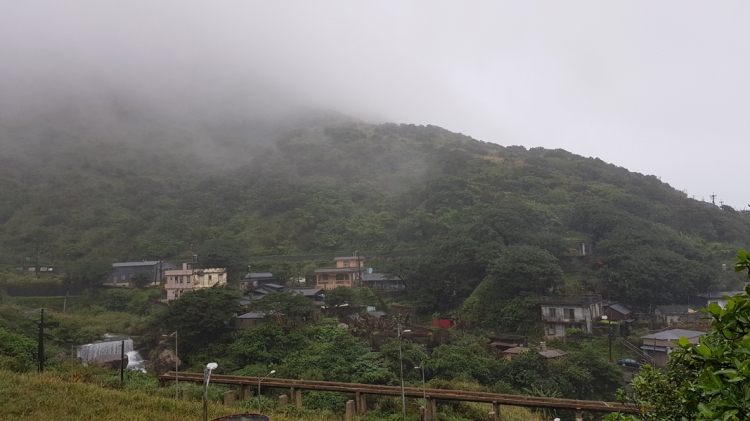 Rainy Taiwan mountain area.