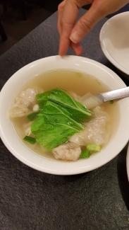 Dumplings soup.