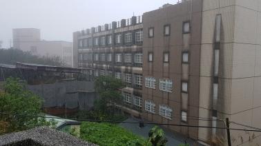 Concrete and rain.