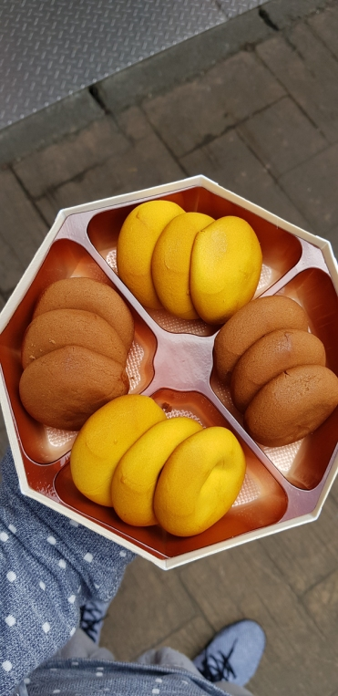 A local pastry with mochii filling.