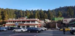 Spacious carpark of Alishan Visitor Center.