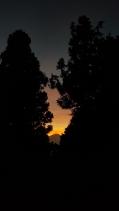Mountain sun set.