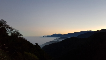 """""""Sea of clouds"""" in the distance."""