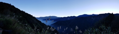 Panoramic view of the general direction where the sun will rise.