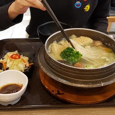 Korean tofu soup. Without rice.
