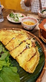 Vegetarian Banh Xeo.