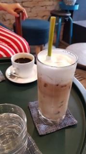 Iced Vietnamese white coffee. Delish!