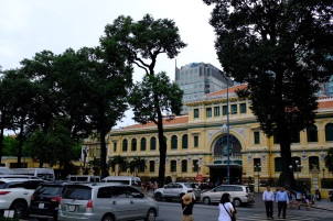 Saigon Central Post Office, as seen from Saigon Notre Dame Cathedral.