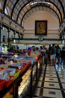 Various shops selling souvenirs in Saigon Central Post Office.