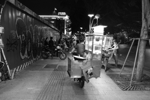 Street Hawker, scooting away.
