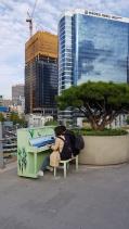 A couple of pianists on Seoullo 7017. Seoul, Korea.
