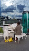 Impromptu street pianist on Seoullo 7017. Seoul, Korea.