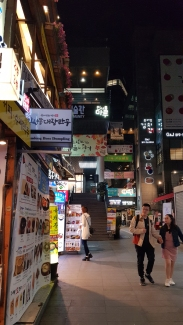 Many restaurants and food options in Insadong. Seoul, Korea.