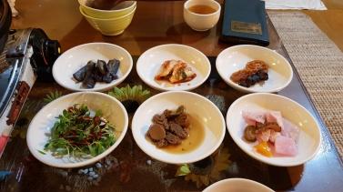 Korean vegan side dishes. Insadong, Seoul, Korea.
