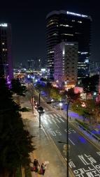 Night scene on Seoullo 7017. Seoul, Korea.