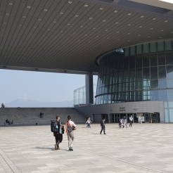 Entrance to the right wing of the National Museum of Korea.