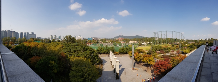Panoramic view of the surrounding of National Museum of Korea.
