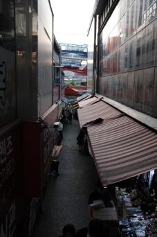 Narrow alleyway. Namdaemun market. Seoul, Korea.