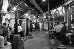 Crowded restaurants at Ikseon-dong Hanok Village.