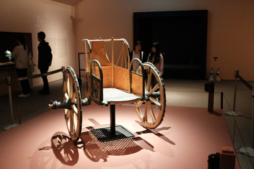 An Etruscan chariot on display in National Museum of Korea.