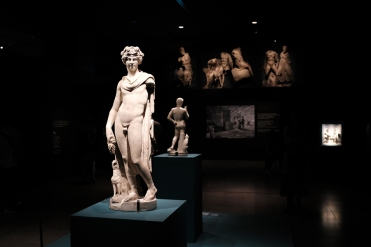 A well kept sculpture in Etruscan exhibition in National Museum of Korea.
