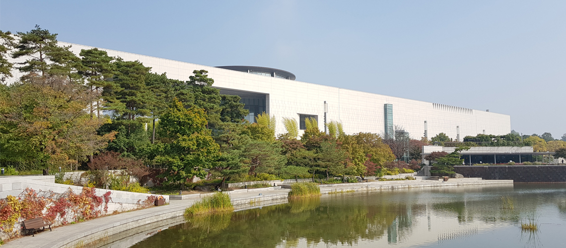 Exterior of National Museum of Korea in Seoul.