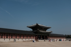 Main entrance to Gyeongbokgung Palace. Seoul, Korea.