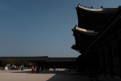 Grand structure of Gyeongbokgung Palace. Seoul, Korea.