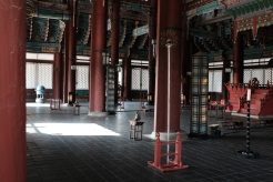Throne room in Gyeongbokgung Palace. Seoul, Korea.