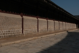 A wall in Gyeongbokgung Palace. Seoul, Korea.
