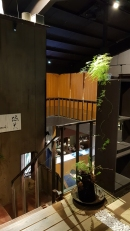 Second floor of a vegetarian restaurant in Taipei, Taiwan.