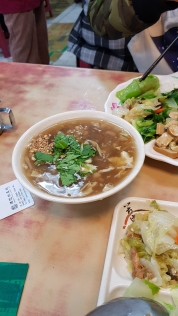 A bowl of Taiwanese style thick soup.