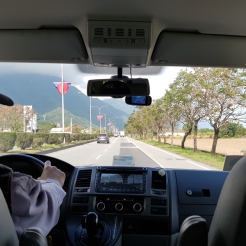 Driving to Taroko Gorge