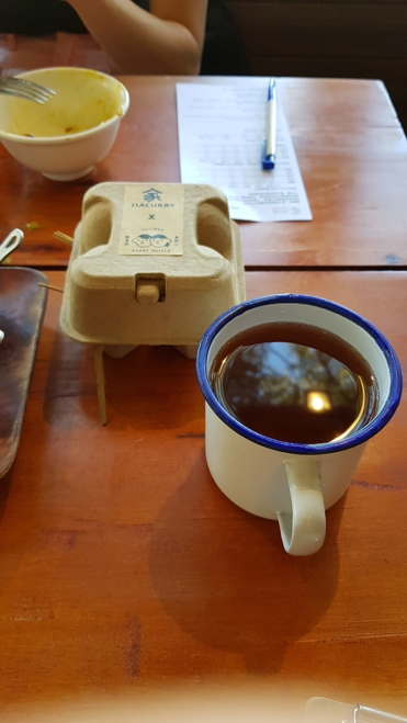 Some tea and dessert.