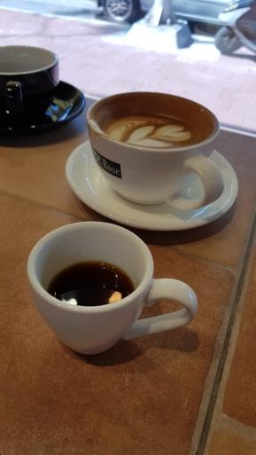 Free coffee sample shots!